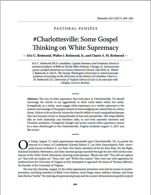 Cover to Charlottesville